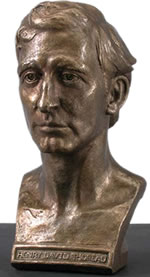 A bust of Henry D. Thoreau